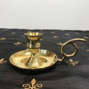Vintage Solid Brass Chamberstick Candle Holder